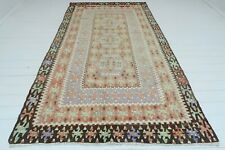 "Anatolian Turkish Antalya Nomads Kilim 59""x114"" Area Rug Kelim Carpet"