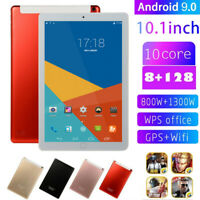 10.1'' Android 9.0 Tablet PC 8+128G 8 Core 4G Phone Dual SIM GPS FM Unlocked US