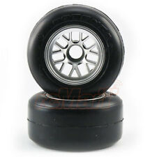 RIDE Pre-Mounted Glued Front F104 Slick Tire/63mm/R1 High Grip RC Car #26022