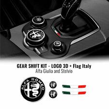 Kit Adesivo Alfa Romeo Loghi + Bandiera Italia per Interno Giulia Stelvio