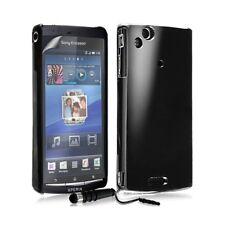 Coque Rigide Brillante Pour Sony Ericsson Xperia Arc / Arc S Couleur Noir + Styl