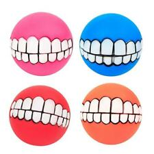 Set of 4 Dogs Teeth Pattern Balls Chew Toy Bite Resistant Dogs Training Toys