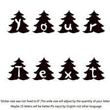 """Your Text Vinyl Decal Sticker Car Window Bumper CUSTOM 7"""" Personalized Lettering"""