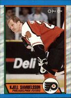 1989-90 O-Pee-Chee Flyers Hockey Card #100 Kjell Samuelsson RC