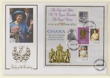 Ghana1999 Queen Mothers 100th Birthday Miniature Sheets (2) As issued First Day