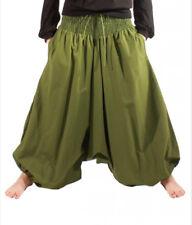 Coline - Pantalons Ethnique Grande Taille TU Bouffant Sarouel kaki Aladin Hippie