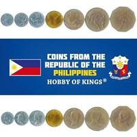 SET OF 7 COINS FROM PHILIPPINES. 1, 5, 10, 25, 50, SENTIMOS, 1, 2 PISO 1983-1994