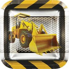 """BUILDER CONSTRUCTION ZONE""  Pack of 8 - 18cm Party Plates!"