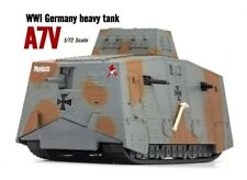 Brand New 1/72 Scale WWI German A7V Heavy Tank Grey Camouflage 3D Diecast Model