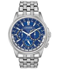 Citizen Eco-Drive Calendrier Blue Dial Stainless Steel Men's Watch BU2021-51L