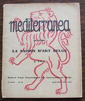 Mediterranea N°16 de 1928 - La Saison d'Art Belge à Nice