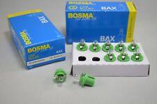 10x plastique socle-poire bx8, 5d 12 V 2 W 10 pièces lampe compteur de vitesse Vert