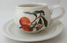 Portmeirion Pomona Romantic Shape Cup and Saucer The Royal George Apple Design