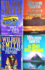 Lotto 8 libri: 4 WILBUR SMITH + 4 CLIVE CUSSLER