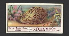 OGDENS - BIRDS EGGS - #34 LAPWING