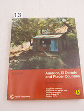 Amador El Dorado Placer Pac Tel 1976 Directory Phone Book (D3L-13) Yellow Pages