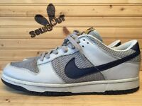 2004 Nike Air Dunk Low Premium sz 13 Grey Midnight Navy 3m Goldenrod 307696-041