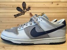 2004 Nike Air Dunk Low Premium sz 13 Grey Midnight Navy 3m Goldenrod 307696-041