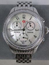 NEW Michele Stainless Steel Diamond JW2 Jetway Ladies Watch MW23A01A1025 NIB