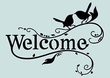 Welcome **Schablone**für Stoffe, Möbel usw. ** Nr.: 1028