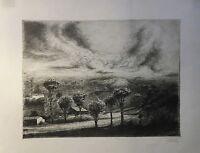 Prof. Otto Coester (1902-1990) Landscape With Aufziehendem Storm - Düsseldorf