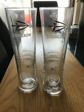 Two Strongbow Heritage Pint Glasses New 2016- CE Stamped