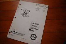 Miller Welder 10a Wire Feeder Control Installation Operation Maintenance Manual