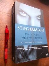 Stieg LARSSON : Mannen die Vrouwen Haten, thriller Millennium Trilogie, 560 blz.