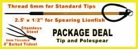 Lionfish Lion Fish Pole Spear Sling 6mm End catch bag trident Gear Equipment tip