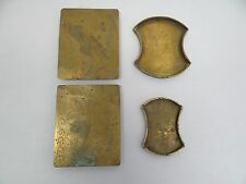 Mixed Lot of Chinese Brass Copper Metal Decorative Plant Stands Change Trays
