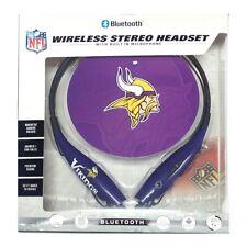 Mizco Sports Wireless Stereo Bluetooth Hands-Free Headset NFL Minnesota Vikings