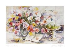 Jeanne Coolen-Luyten Tulpen am Fenster Poster Kunstdruck Bild 60x80cm