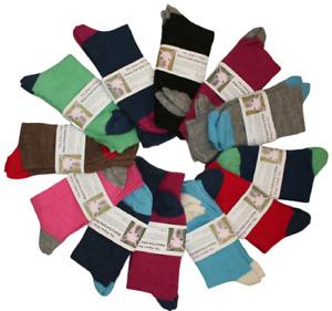 Alpaca Contrast Everyday Socks, Dress, Womens, Mens, Thermal 3 Sizes, Made in UK
