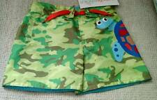 Candlesticks Toddler Boy's Swim Suit Trunks Size 24 Mos NEW Green Camo + Turtle