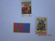 1973 US 8 Cents Needlepoint Christmas Tree US LOVE Raphael National Gallery Art
