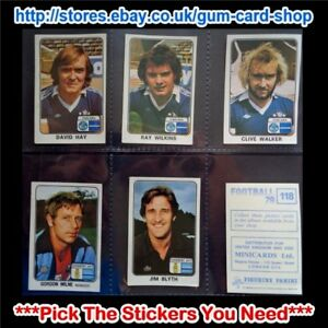 PANINI FOOTBALL 79  (CARDS 100 TO 199) (G) ***PICK THE STICKERS YOU NEED***