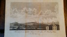 1778 ORIGINAL ANTIQUE ENGRAVING THE SIEGE OF RHODE ISLAND - AMERICAN REVOLUTION