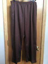 HABAND womens knit pants SIZE 20P brown elastic waist center seam pockets