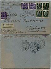 RSI-Assicurata Pegognaga 27.10.1944-Imperiale+Monumenti distrutti(491+507)