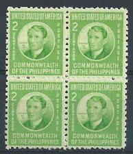 Philippines 1941 Sc# 461 Hose Rizal US  block 4 MNH