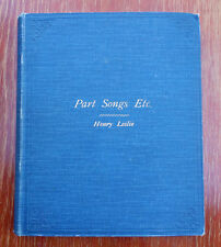 UNIQUE Henry Leslie Victorian Songs choral sheet music lyrics bound hardcover