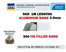 GYS 590 TIG aluminium ENTONNOIR soudage tiges 2.0 mm 5kg 1M mètre longueurs