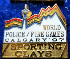 WORLD POLICE -FIRE GAMES 97 SPORTING CLAYS pin