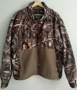 Cabelas Mens XL Dry-Plus MAX4 Waterfowl Duck Hunting Camo Jacket Coat No Hood