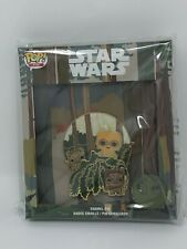 "FUNKO X STAR WARS ENDOR SCENE 3"" POP!PIN COLLECTOR BOX AND PIN LE 500"