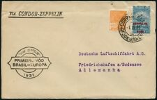 Zeppelin Brasilien 1931 1. Südamerikafahrt Rio F'haven MiF 367 Si 125 B / 583