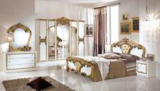 Schlafzimmer Elisa weiss Gold 160 x 200 cm Klassik Italien Stilm