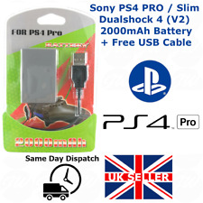 Playstation PS4 Pro Slim 2000mAh (2nd Gen) Replacement Battery - FREE USB CABLE
