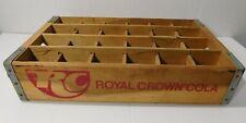 Vintage RC Royal Crown Cola Wood 24 Bottle Drink Crate Akron Ohio