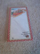 Mary Engelbreit Notepad Magnetic Shopping List Sledding Animals 60 Sheets Sealed